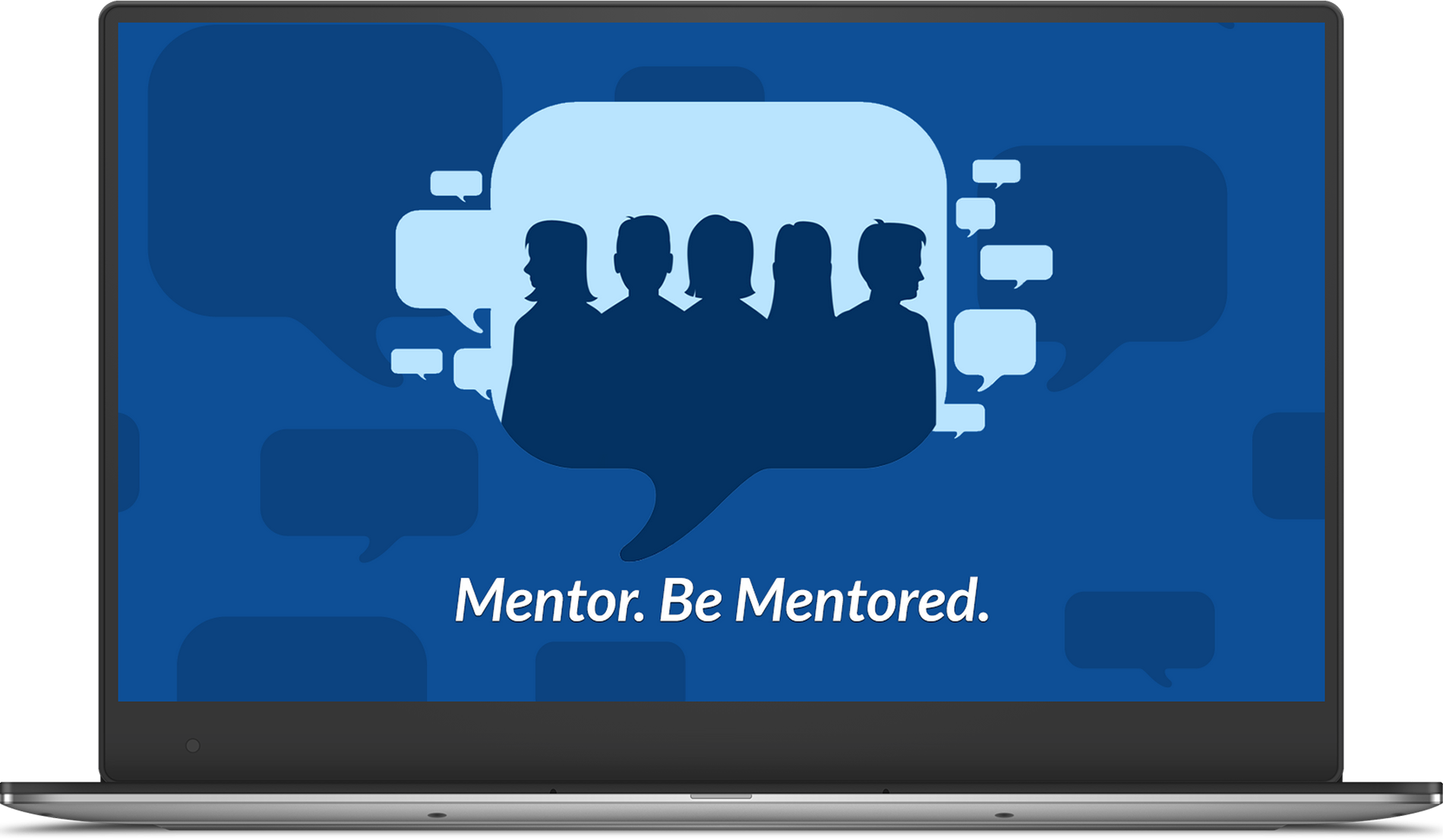 Laptop - Mentor. Be Mentored.